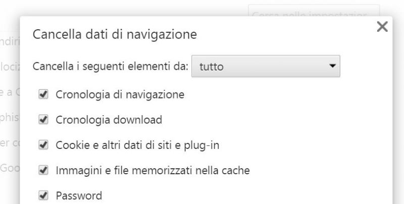 Cronologia Google Chrome